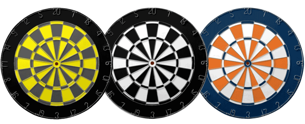 Dartboards various colours